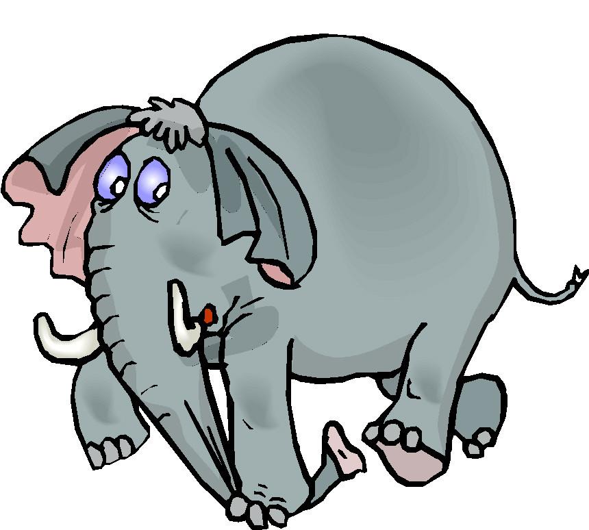 een olifant eet ge op, stukske per stukske ...